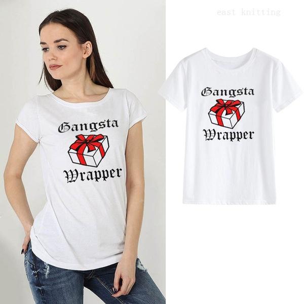 Funny, White T-Shirt Women, letter print, ladytop