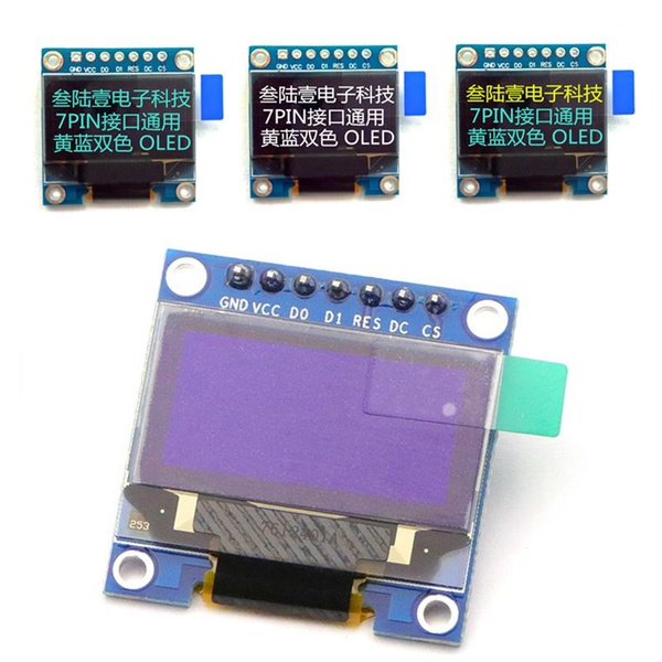 "3-5V 0.96/"" SPI Serial 128X64 Blue OLED LCD LED Display Module for Arduino"