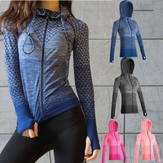 Fashion, Yoga, Zip, Elastic