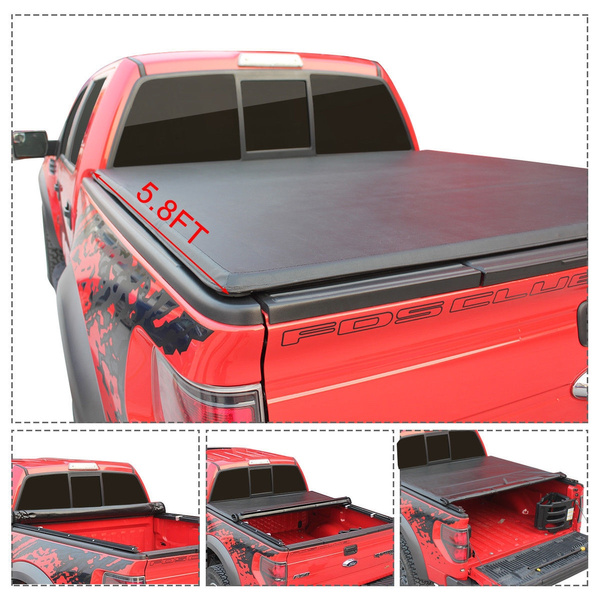 Roll Up Truck Bed Tonneau Cover For 2009 2018 Dodge Ram 1500 5 8ft Wish