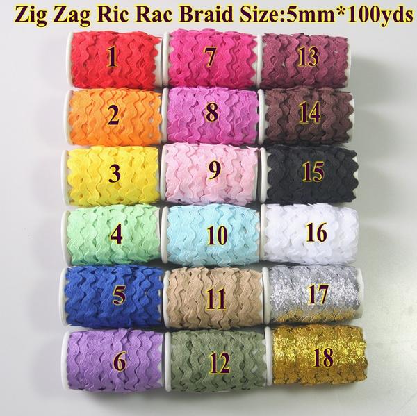 Ribbons, ricrac, Braids, Sewing