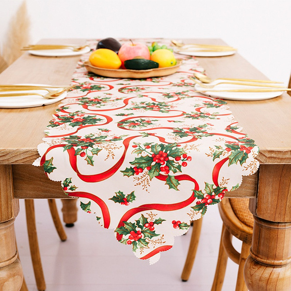 tablelinen, tableflag, Home Decor, christmastablecloth