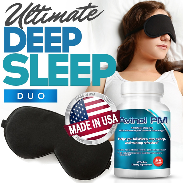 sleepaid, sleepmask, melatonin, silk