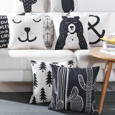 cute, Plantas, Decoración de hogar, Pillowcases