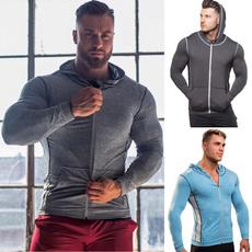 hooded, Men's Fashion, Zip, Fitness