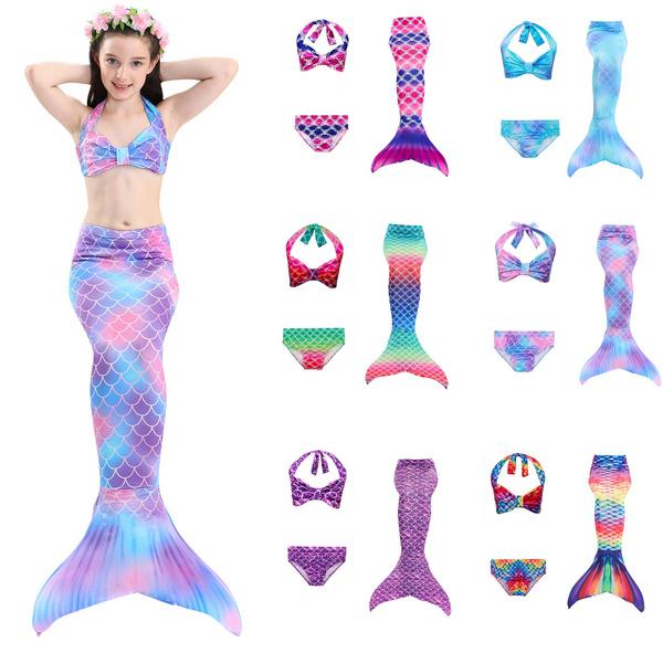 Fashion, Princess, mermaidbikiniset, mermaidtailforgirl