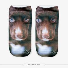 cute, Fashion, brown, animalprintsock