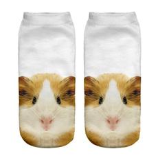 cute, Funny, animalprintsock, Ankle