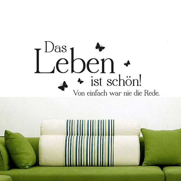 German Stickers Quote Wandtattoo Das Leben Ist Schoen Vinyl Wall Decals Wish