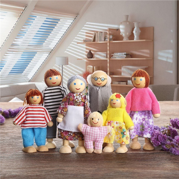 Toy, dollsfamily, Family, Wooden