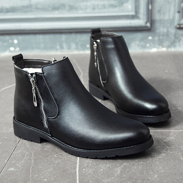 2020 New Fashion Men Winter Outdoor Snow Boots Keep Warm Boot Men S Business Leather Shoes Wish