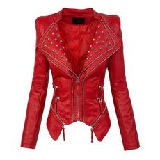puleatherjacket, Fashion, rivetjacket, Sleeve