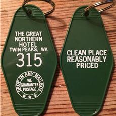 northernhotelkeytag, roomkeychain, twinpeakskeychain, Key Chain