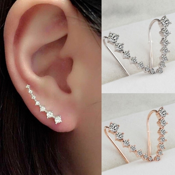 Fashion, gold, Rhinestone, Earring
