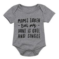 short sleeves, Summer, auntonesie, babyromper