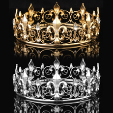 King, Medieval, gold, crystalcrown