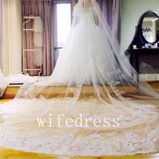 weddingveil, Lace, bridalveil, Beading