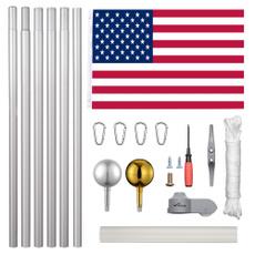 flagpoleoutdoor, Aluminum, aluminumflagpole, flagpolekit