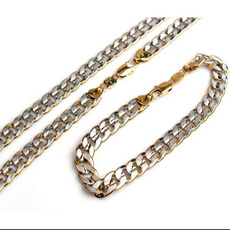 Jewelry, necklacebraceletchain, curbjewelryset, Chain