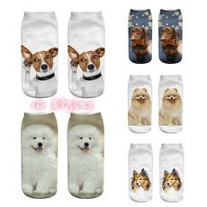 cute, dogprintsock, Cotton Socks, Fashion