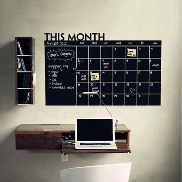 Decor, magneticcalendar, blackboard, Stickers