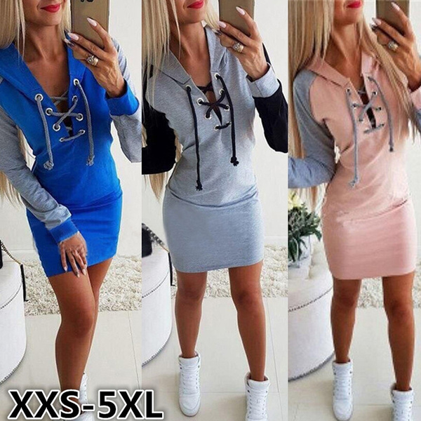 sweatshirt dress, Plus Size, Bandage Dresses, Dress