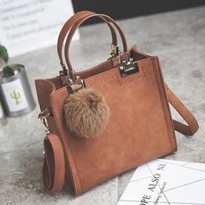 Shoulder Bags, sacfemme, fur, Casual bag