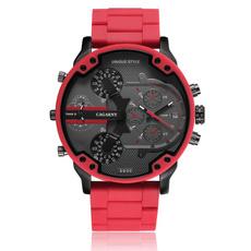 Steel, case, quartz, silicone watch