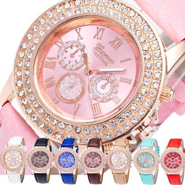 genevawatch, DIAMOND, Jewelry, leather