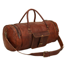 leatherluggagebag, mensdufflegymbag, dufflebag, brown