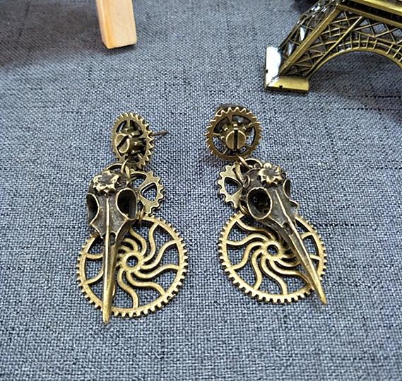 ghost, Goth, punk earring, vintage earrings