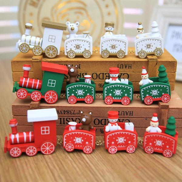 Mini, Decor, woodentrain, Christmas