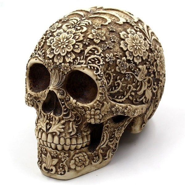 Flowers, Home Decor, skull, Ornament