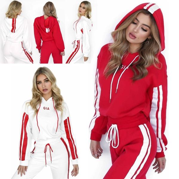 Fashion, women track suit, pants, hoody tracksuit