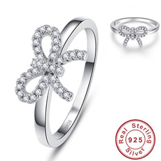 Sterling, bowknot, 925 sterling silver, Romantic