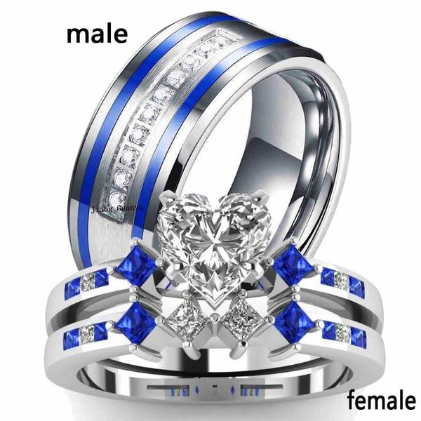 Couple Rings, Fashion Jewelry, Heart Shape, wedding ring
