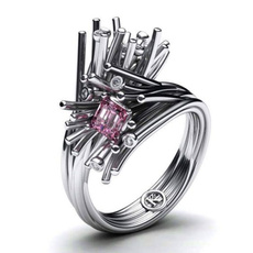 pink, 18k gold, Jewelry, 925 silver rings
