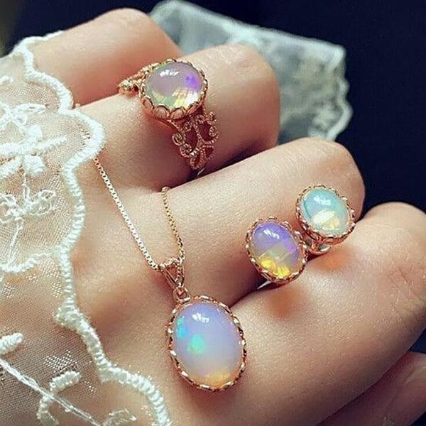 gemstone jewelry, DIAMOND, Jewelry, Creative Jewelry Sets