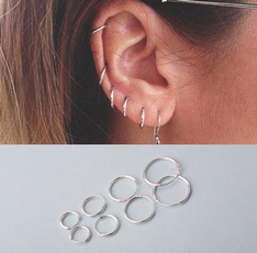 Men Jewelry, Sterling, Hoop Earring, Jewelry