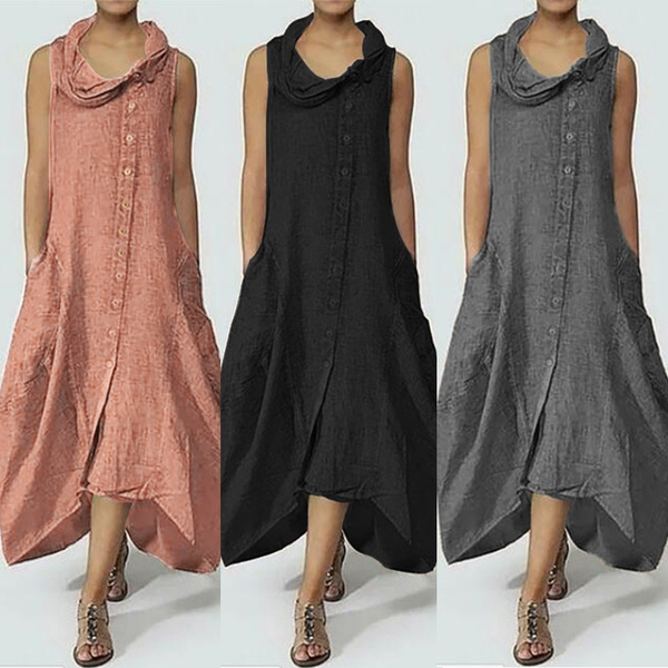 Vest, vest dress, long dress, Dress