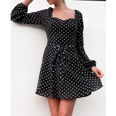 Mini, dresswithbelt, Vintage, Long Sleeve