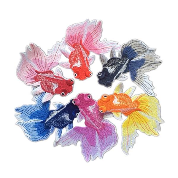 koifish, Embroidery, Iron, goldfish