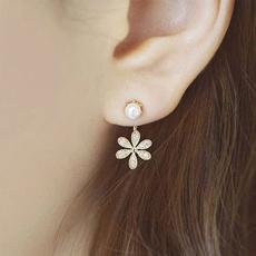 Flowers, presente, para, ear studs