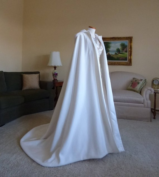 Ivory, hooded, Wedding Accessories, Cover