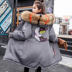 Down Jacket, hooded, fur, Winter