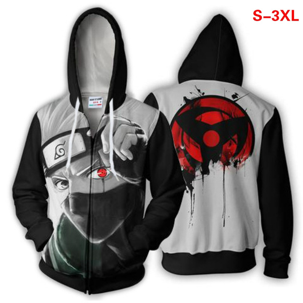 3D hoodies, Plus Size, Zip, narutoanime