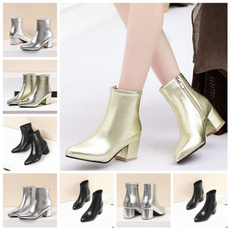 ankle boots, Plus Size, sexy shoes, gold