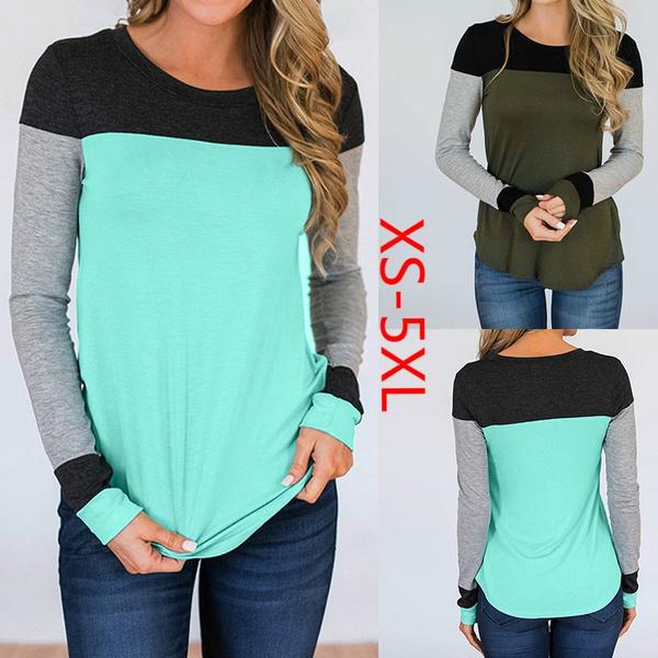 Round neck, Fashion, Stitching, Shirt