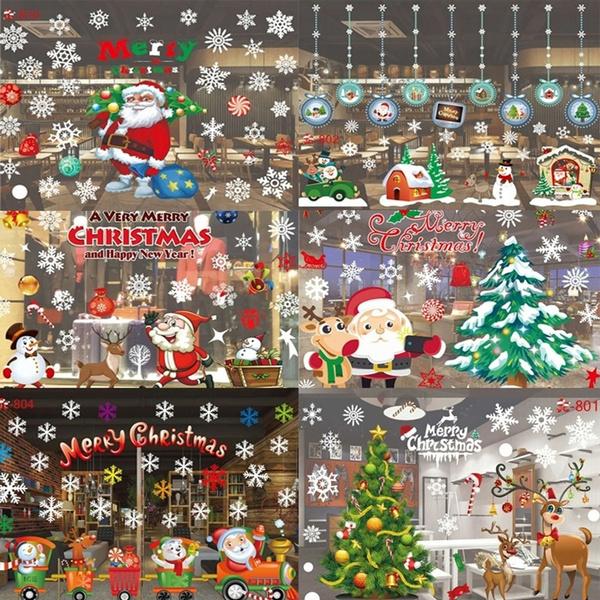 windowdecal, Christmas, Glass, Stickers