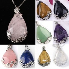 pink, crystal pendant, quartz, Jewelry